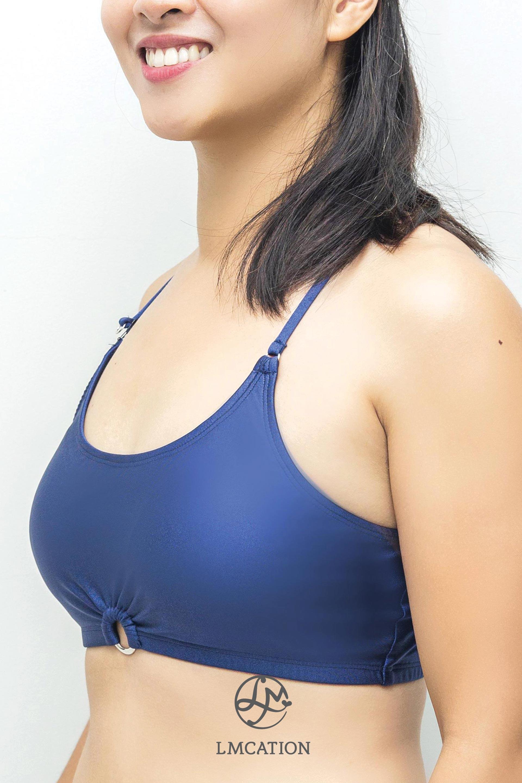 Bikini Combo - LMcation Krista Top & Bottoms - Navy