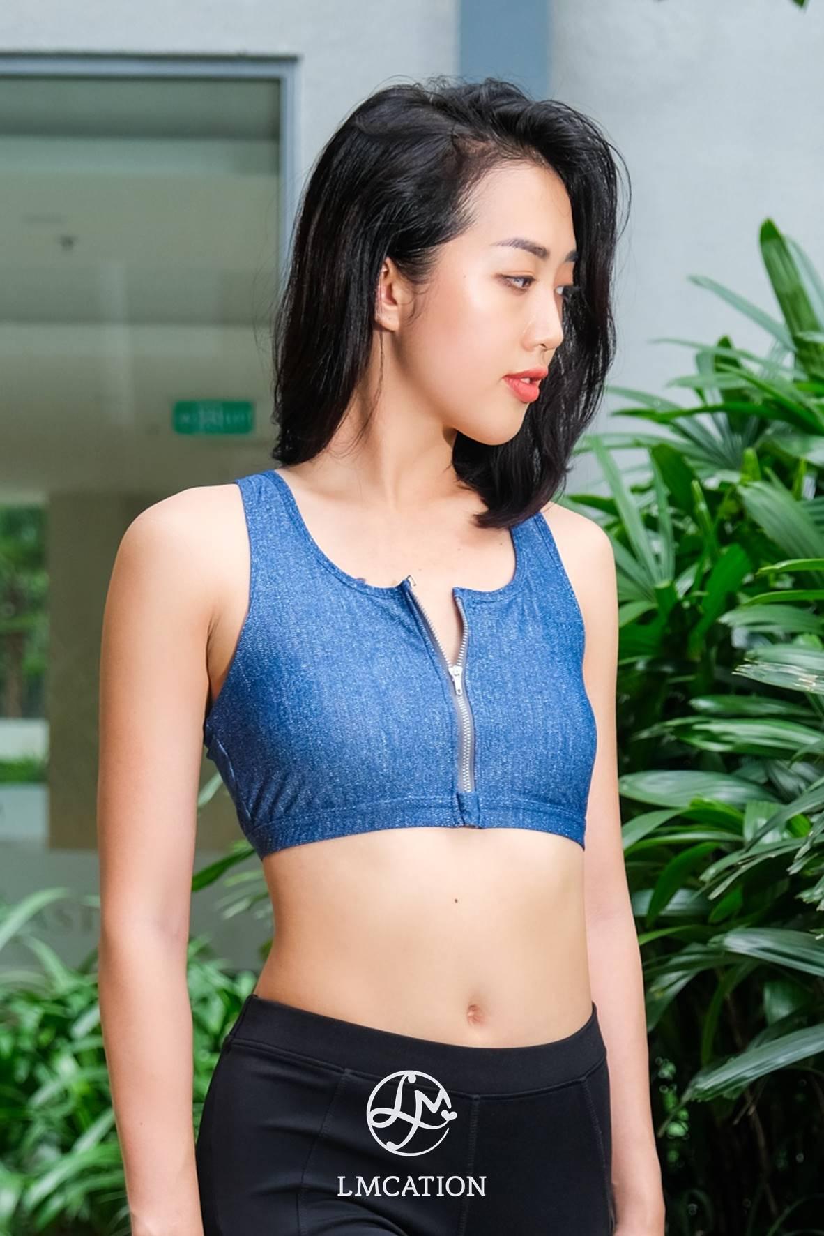 LMcation Tina Bikini Top - Blue Denim