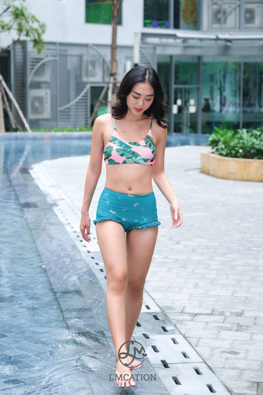 Bikini Combo - LMcationv Tropical Garden Ana Bikini Top & Twinkling Butterfly Estella Swim Shorts
