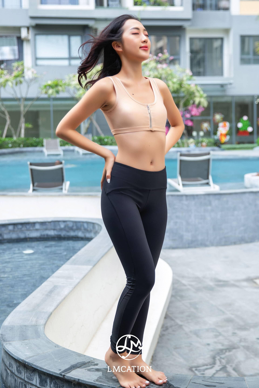 LMcation Active Combo - LMcation Nude Tina Bikini Top & Noir Venus Tights