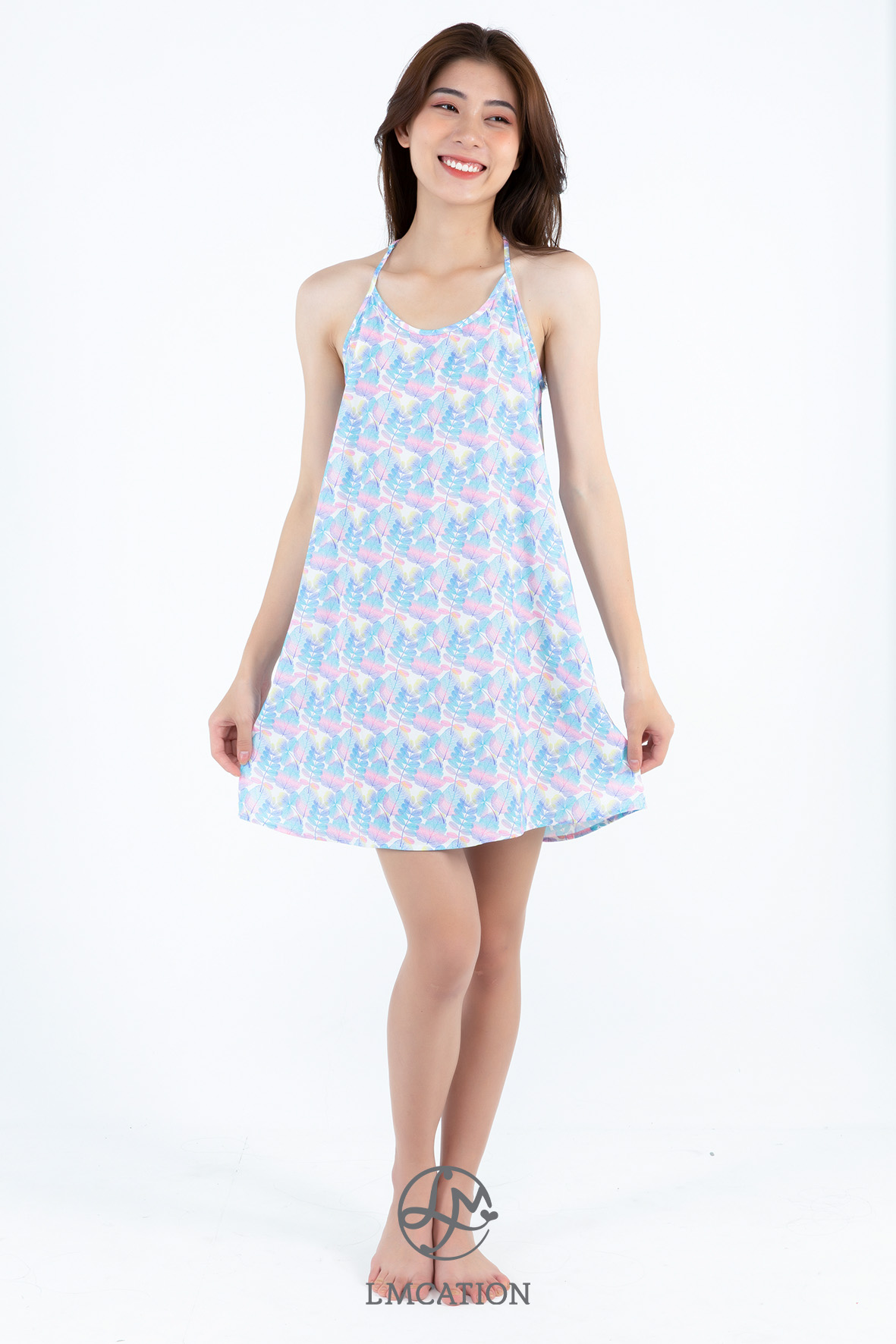 LMcation Vada Dress - Pastel Leaves
