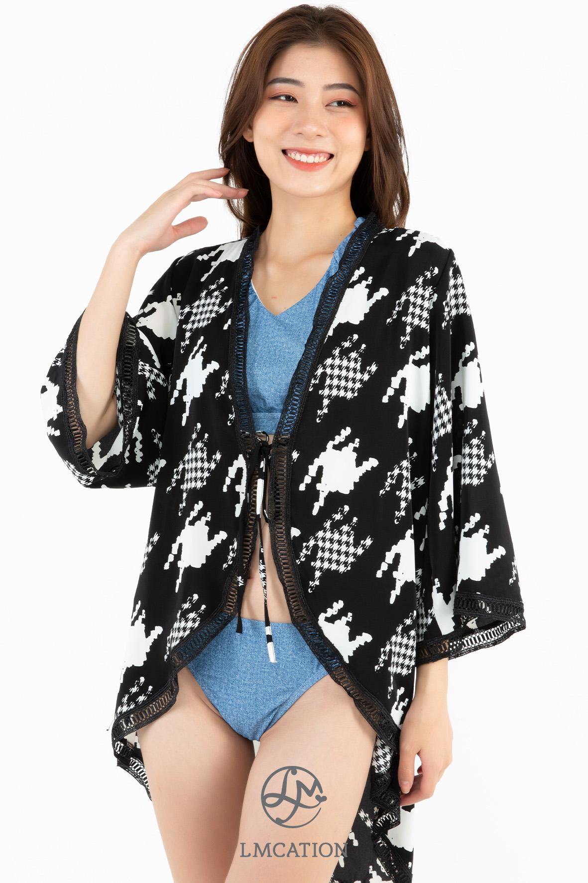 LMcation Mara Kimono - Argyle Patches