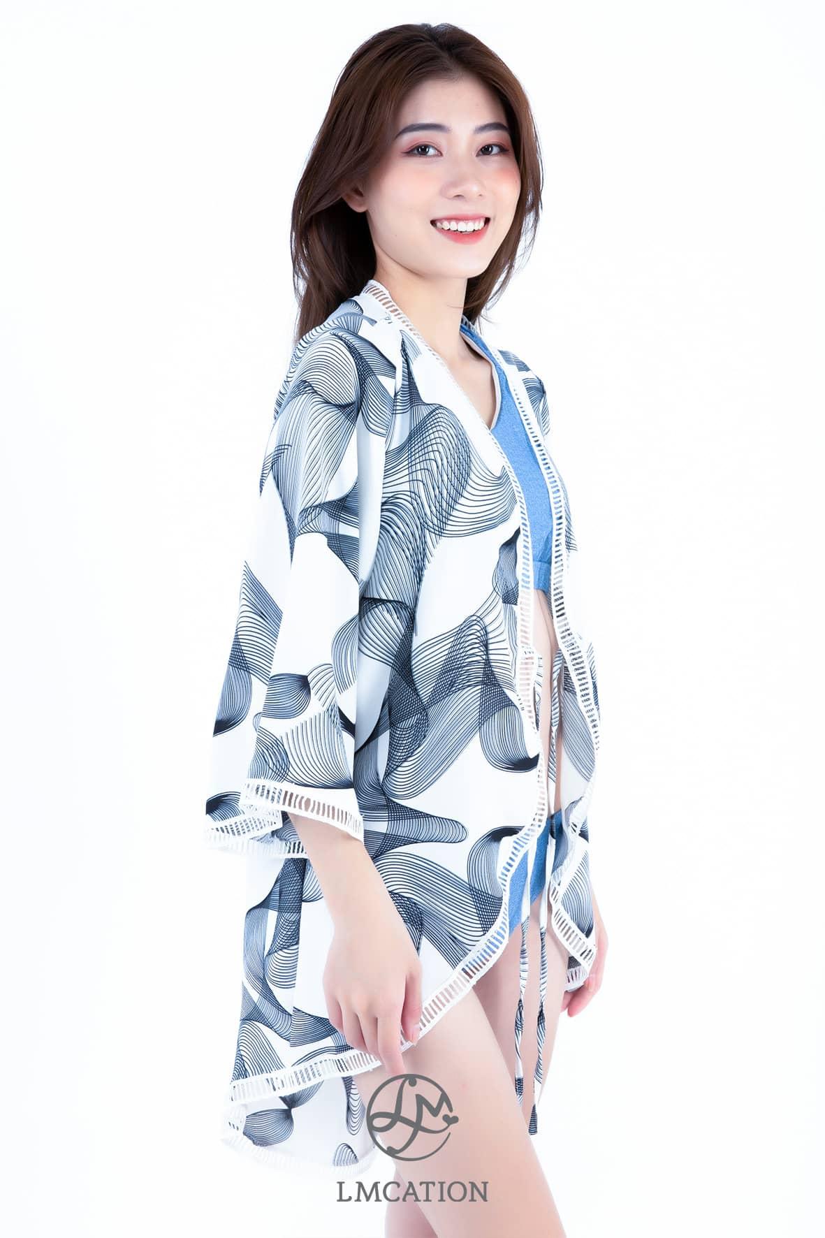 LMcation Mara Kimono - White Waves