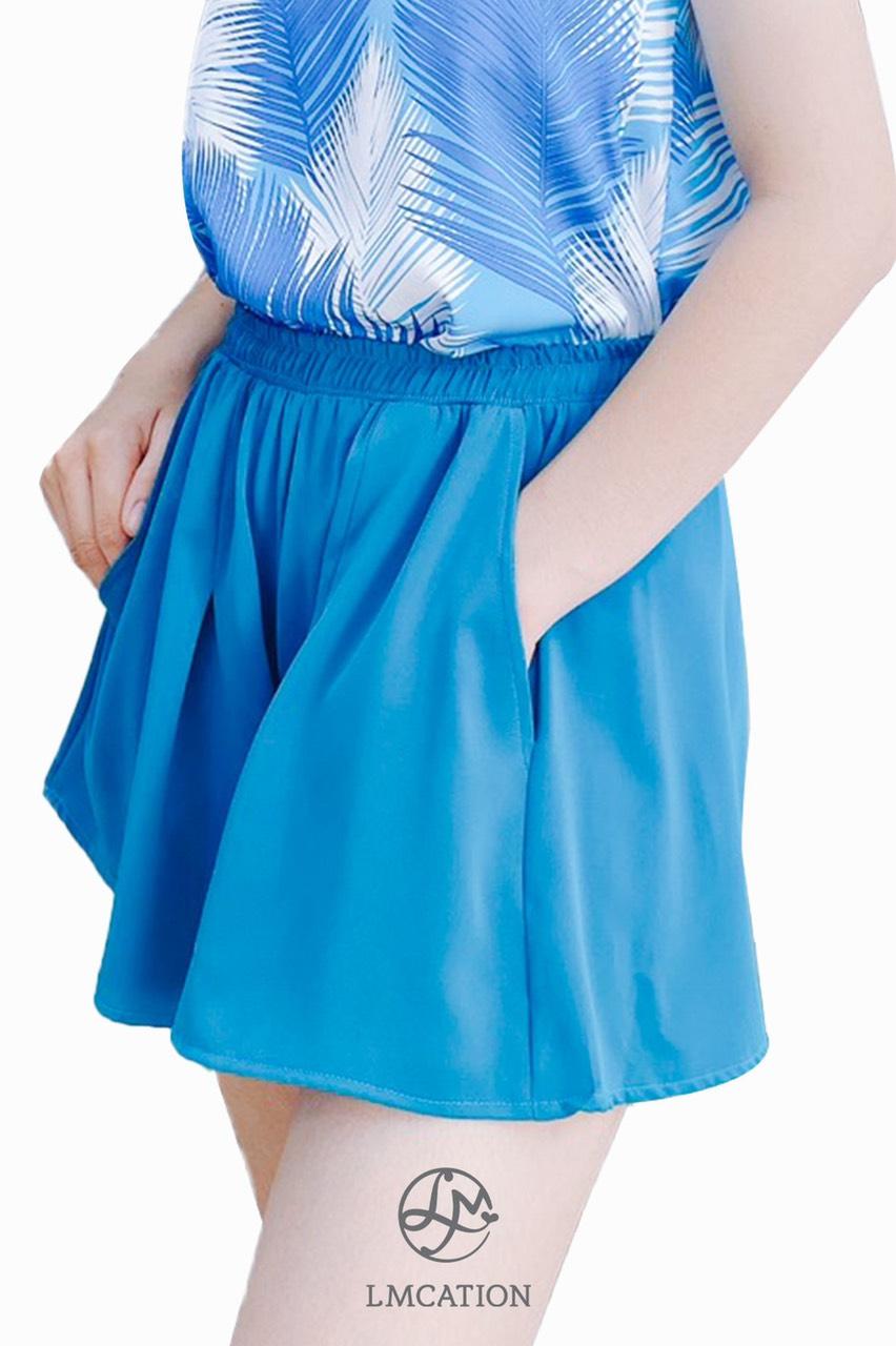 Combo LMcation Mary Tank Top & Ari Shorts - Blue Palm