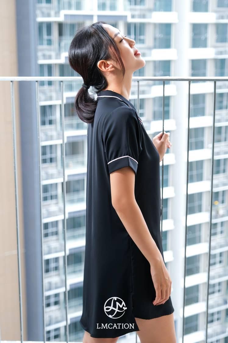 LMcation Molly Pajama Dress - Noir