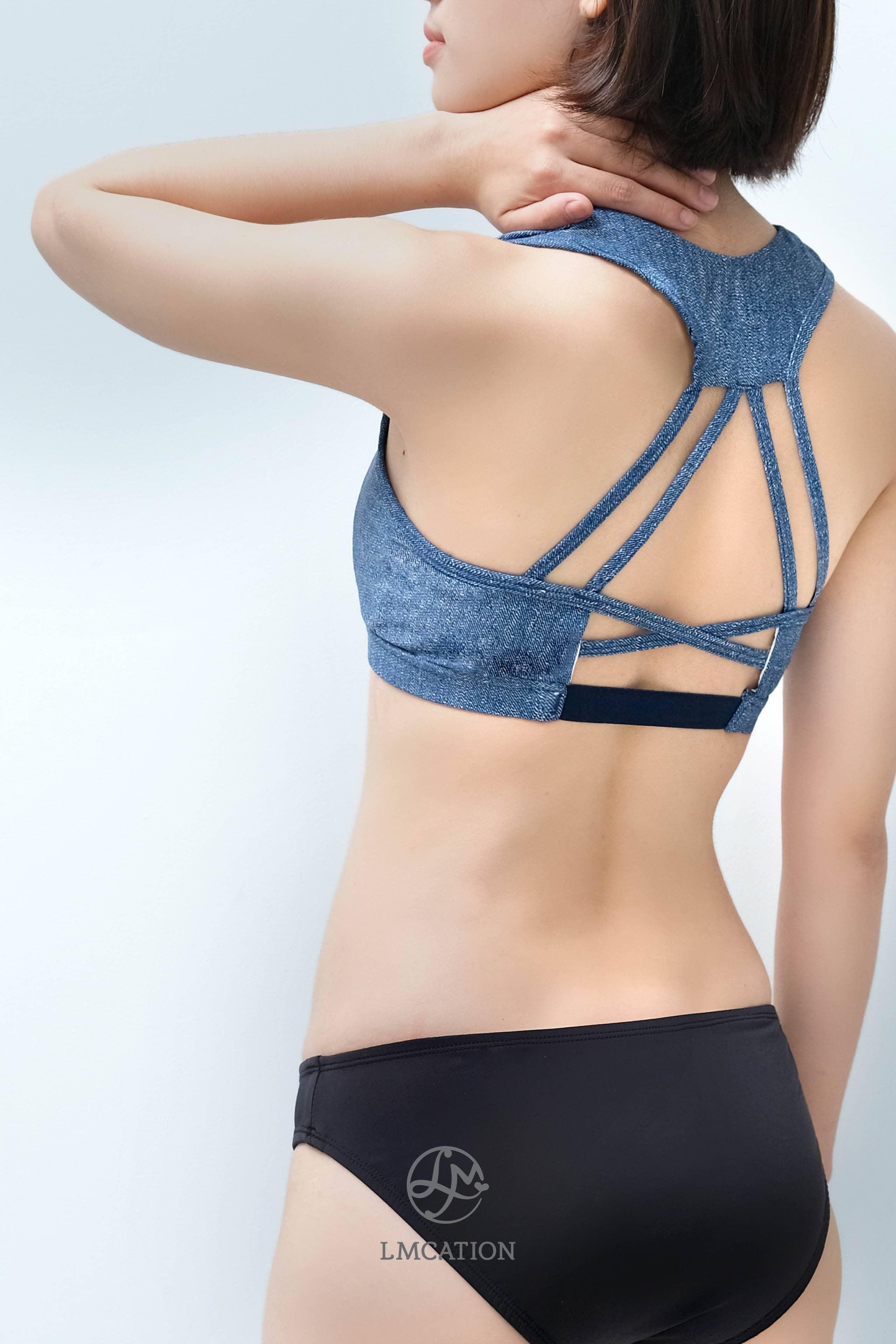 Áo Ngực Thể Thao 3 Dây Chéo LMcation Jasmine - Màu Jean