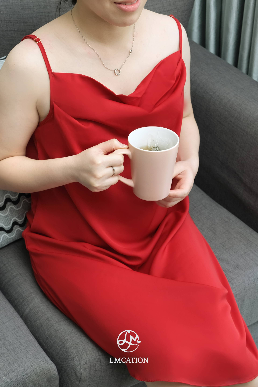 LMcation Camila Slip Dress - Rouge