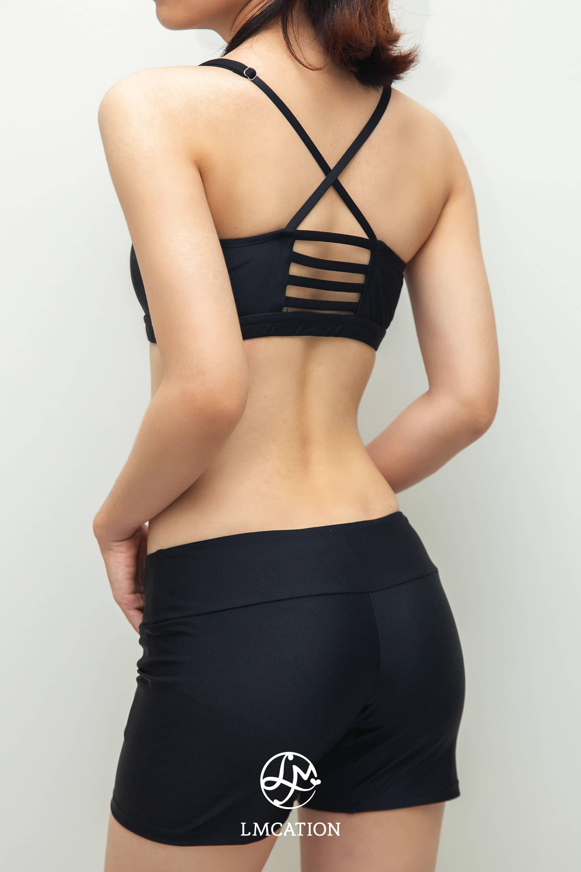 LMcation Active Combo - Noir Olivia Bikini Top & Noir Serena Shorts